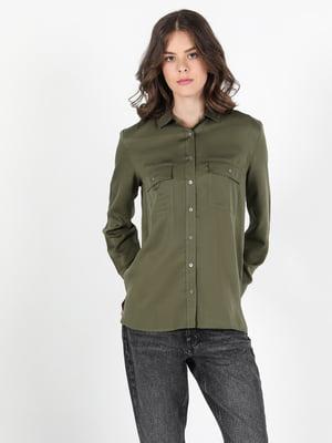 Рубашка цвета хаки | 5577537
