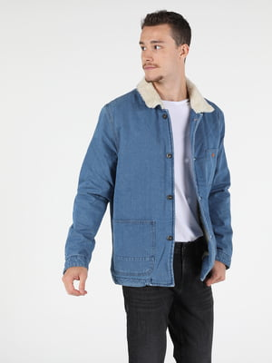 Куртка джинсовая синяя | 5577673