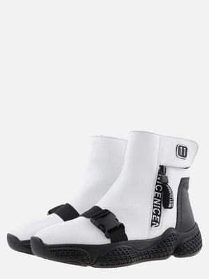Ботинки бело-черные | 5571020