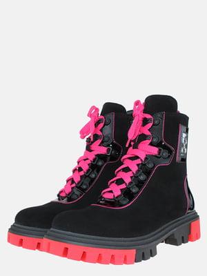 Ботинки черно-розовые | 5576160