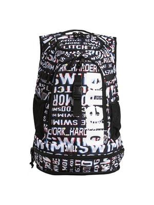Рюкзак чорний з принтом | 5575930