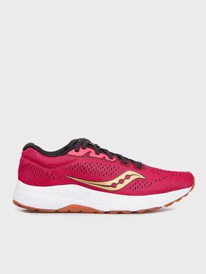 Кросівки для бігу ягідного кольору з декором | 5576203