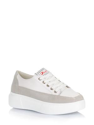 Снікерси біло-сірі | 5579002