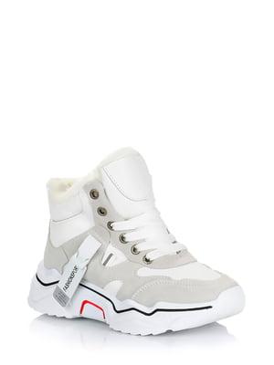 Ботинки бело-серые | 5579005