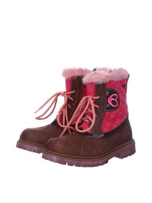 Черевики коричнево-рожеві | 5579512