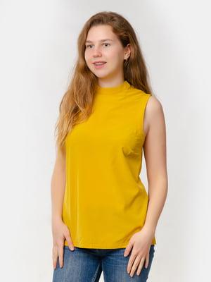 Блуза-топ горчичного цвета | 5579693