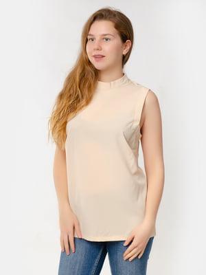 Блуза-топ кремового кольору | 5579694
