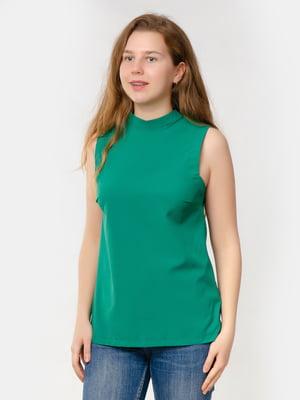 Блуза-топ бутылочного цвета | 5579696