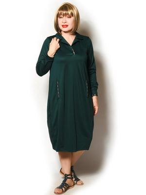 Платье темно-изумрудного цвета | 5579701