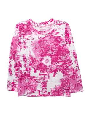 Джемпер розовый в принт | 5579763