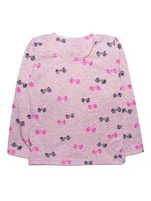 Джемпер розовый в принт | 5579765