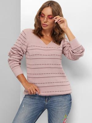 Пуловер цвета пудры в полоску | 5579818