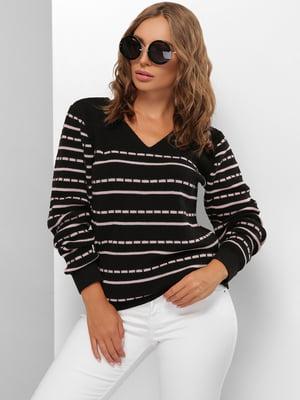 Пуловер черный в полоску | 5579821
