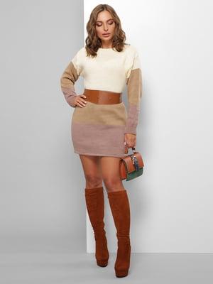 Сукня триколірна смугаста | 5579838