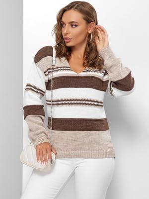 Пуловер в смужку | 5579840