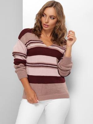Пуловер в смужку | 5579841