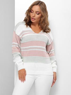 Пуловер в смужку | 5579842