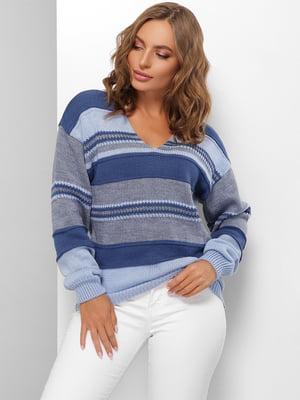Пуловер в смужку | 5579843
