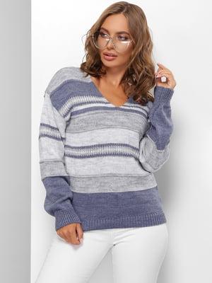 Пуловер в смужку | 5579844