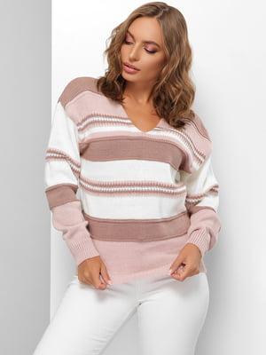 Пуловер в смужку | 5579846
