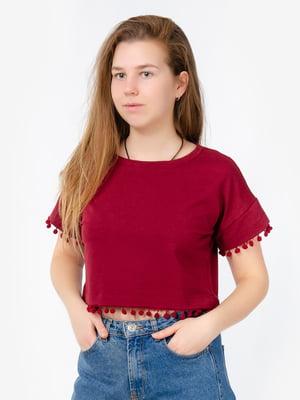 Блуза-топ бордовая | 5504653