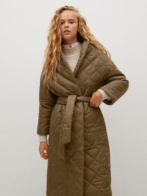 Пальто цвета хаки | 5580136
