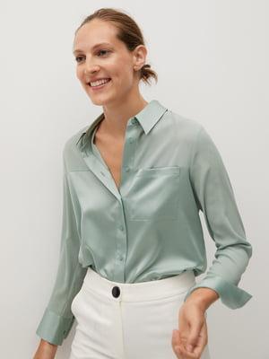 Рубашка мятного цвета   5580161