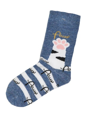Шкарпетки сині з принтом | 5582187