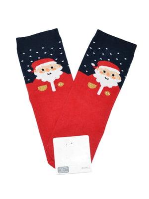 Носки красные с принтом | 5582195