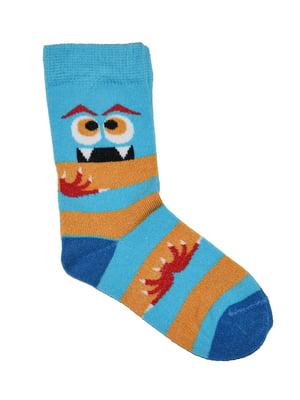 Носки голубые в полоску | 5582201