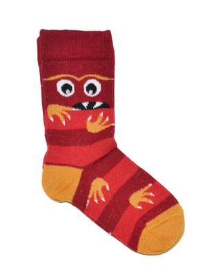 Носки красные в полоску | 5582202