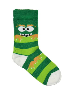 Носки зеленые в полоску | 5582203