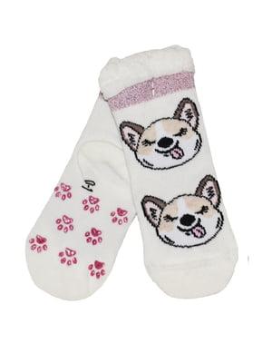 Шкарпетки білі з принтом | 5582205