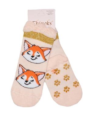 Шкарпетки персикового кольору | 5582206