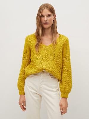 Пуловер гірчичного кольору | 5580020