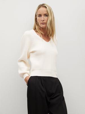 Пуловер молочного кольору | 5580029