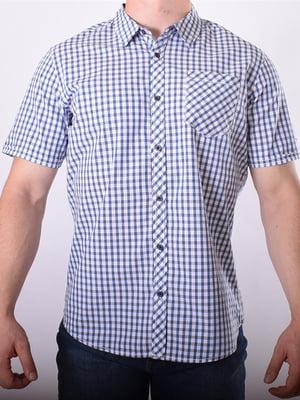 Рубашка белая в клетку   5488851