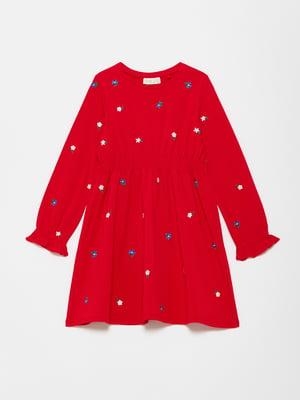 Платье красное в принт | 5561658