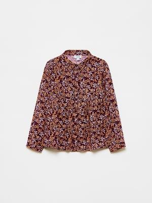 Рубашка красная в принт | 5583028
