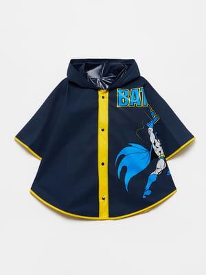 Дождевик темно-синий с принтом | 5582906