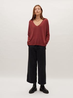 Пуловер бордовый   5582037