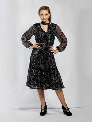 Платье черное в горошек | 5583878