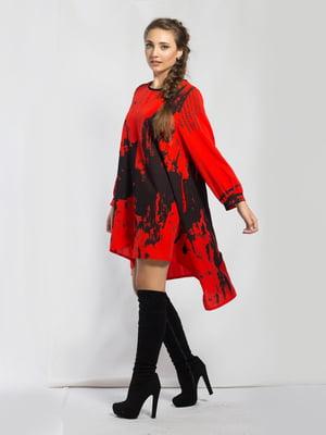 Платье-туника красное в принт   5583888