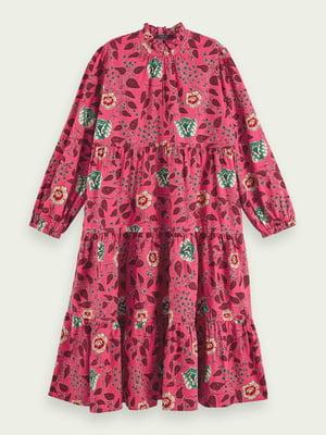 Сукня рожева у квітковий принт | 5580541