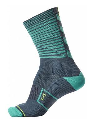 Шкарпетки сіро-зелені в смужку | 5584469