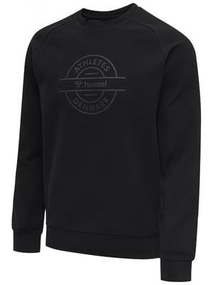 Світшот чорний з логотипом | 5584532