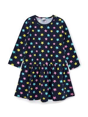 Сукня синя з принтом | 5584563