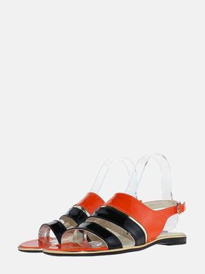 Сандалії чорно-помаранчеві | 5575907