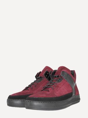 Ботинки черно-бордовые | 5568953