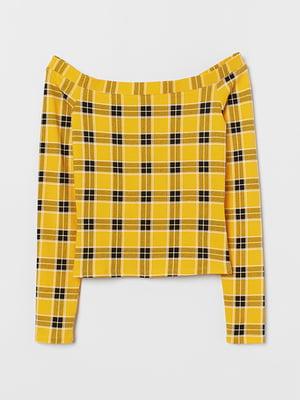 Топ жовтий в клітинку | 5579573